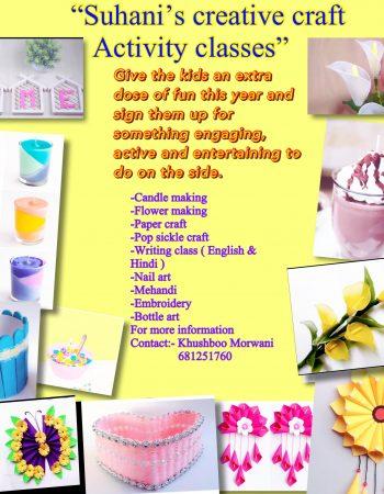 Suhani's creative craft Activity classes